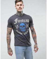 Firetrap - Graphic Skull T-shirt - Lyst