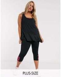 Simply Be Черные Короткие Леггинсы Activewear-черный