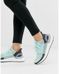 97343c5fddf1a adidas Originals Originals Swift Run Sneakers In White With Mint ...