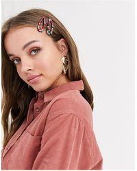 New Look 2 - Set Van Regenboog Haarspeldjes - Meerkleurig
