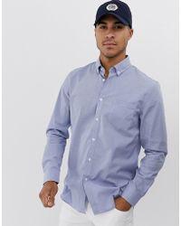 Lacoste Chemise à manches longues à carreaux avec poche - Bleu