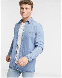 Lacoste Snap Button Denim Shirt - Blue