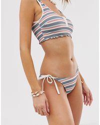 Rip Curl Rip Curl Boston Road Skimpy Tie Side Bikini Bottom - Blue