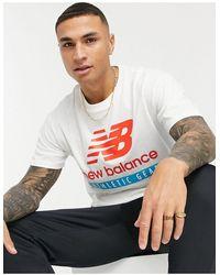 New Balance T-shirt bianca con logo - Bianco