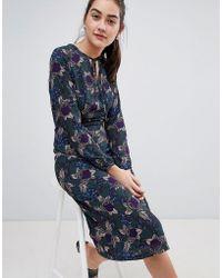 Sugarhill - Noor Abstract Floral Midi Dress - Lyst