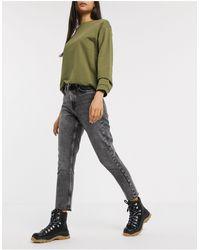ONLY Mom jeans nero slavato