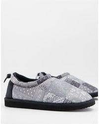 ASOS Puffer Slipper - Gray