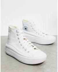 Converse Chuck Taylor Move - Sneakers alte con plateau bianche - Bianco