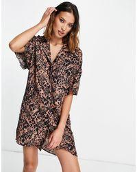 TOPSHOP Souvenir - Vestito camicia - Marrone