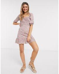 Miss Selfridge Bardot Mini Dress - Pink