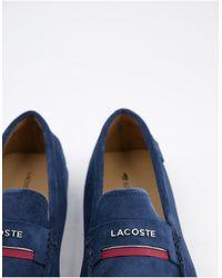 Lacoste Темно-синие Лоферы Plaisance-темно-синий