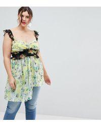 ASOS - Exclusive Mix Print Floral Top - Lyst