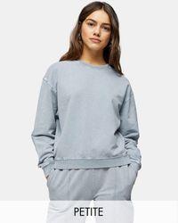 Topshop Unique Sweat-shirt d'ensemble délavé à l'acide d'ensemble - Bleu - Violet