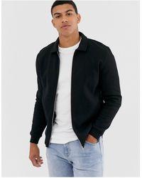 ASOS Jersey Harrington Jacket - Black