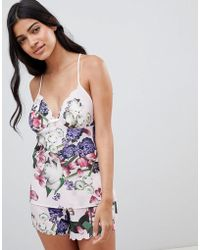 Ted Baker - B By Kensington Floral Pajama Short - Lyst