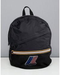 K-Way - K-way Le Vrai 3.0 Francois Packaway Backpack In Black - Lyst