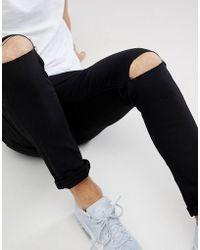 5a8adcdc5eee Schwarze Skinny-Jeans mit Rissen