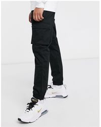 Only & Sons Slim Fit Cargo With Cuffed Bottom - Black