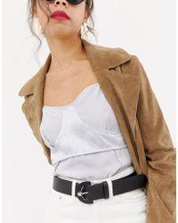 Pieces - Tonia Jeans Belt - Lyst