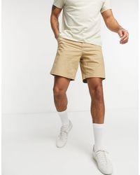 Lacoste Regular Fit Cotton Gabardine Bermuda Shorts - Brown