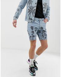 Criminal Damage Co-ord Denim Shorts - Blue