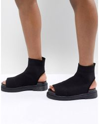 ASOS - Anton Knitted Shoe Boots - Lyst