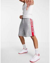 KTZ Nba Chicago Bulls Jersey Shorts - Grey