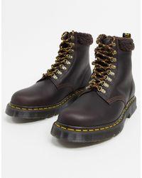 Dr. Martens - Массивные Ботинки Цвета Какао С Флисовой Подкладкой 1460-коричневый - Lyst