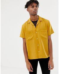Heart & Dagger Рубашка Горчичного Цвета Из Вискозы С Отложным Воротником -желтый