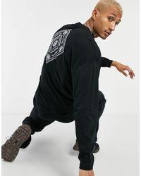 ASOS Oversized Organic Cotton Long Sleeve T-shirt - Black