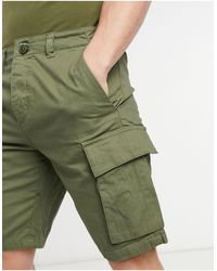 French Connection Shorts cargo color caqui - Verde
