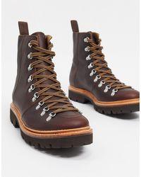 Grenson Коричневые Походные Ботинки Brady-коричневый