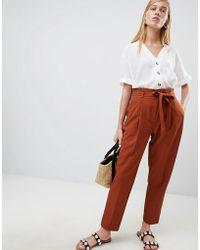 Save Pants Waist Orange In Rust New Tapered Look Tie 53Lyst iZXkPu