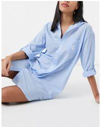Lauren by Ralph Lauren Lawn Sleep Shirt - Blue