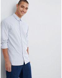 SELECTED - Stripe Long Sleeve Shirt - Lyst