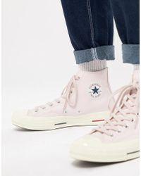 Converse - Chuck Taylor All Star '70 Hi Plimsolls In Pink 160492c - Lyst
