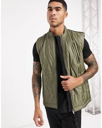 Raeburn Recycled Polyester Quilted Gilet - Green