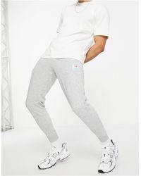 New Balance Серые Джоггеры С Логотипом -серый