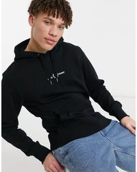 Fred Perry Embroidered Hooded Sweatshirt - Black