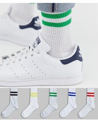 ASOS 5 Pack Sport Socks - White