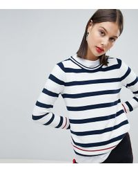 Esprit Mixed Striped Sweater - Blue