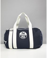 North Sails Large Duffle Bag With Logo In Navy - Blue