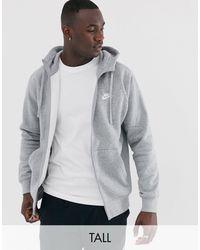 Nike Club – Kapuzenjacke mit Reißverschluss - Grau