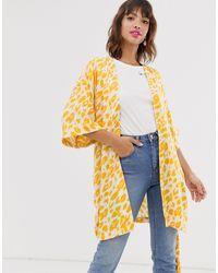 Ichi Kimono con estampado - Amarillo