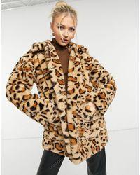 TOPSHOP Faux Fur Jacket - Multicolour