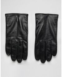 BOSS - Herrys Leather Driving Gloves In Black - Lyst