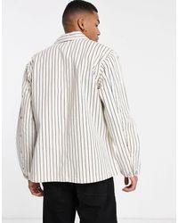 Carhartt WIP Trade Michigan - Manteau à rayures - hickory - Blanc