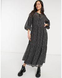 Vero Moda Tiered Maxi Dress - Black