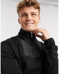 River Island Mcmlx Funnel Neck Slim Fit Sweatshirt - Black