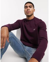 Fred Perry - Classic Crew Neck Jumper - Lyst